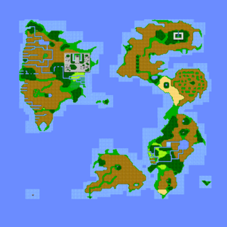 The overworld after defeating Kraken.