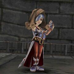 Beatrix's victory pose.