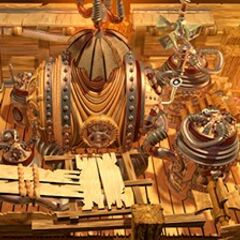 CG art of <i>Final Fantasy IX</i> backgrounds by Behrooz Roozbeh.