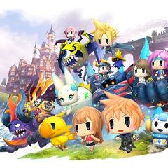 Characters and Mega Mirage summons.