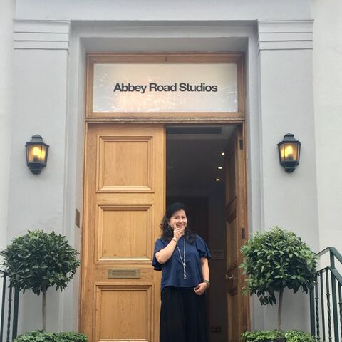 Shimomura at Abbey Road Studios for <a href=