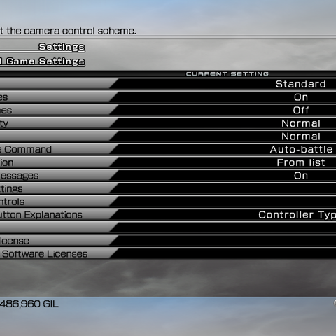 The Settings menu in the PC version.