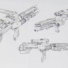 Aki's gun.