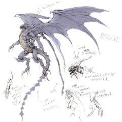 Bahamut's concept artwork.