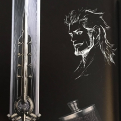 Artwork of Gladiolus and accessories associated with him.