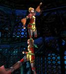 Rikku Victory Pose Underwater Diving Suit