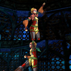 Rikku's underwater victory pose (diving suit).