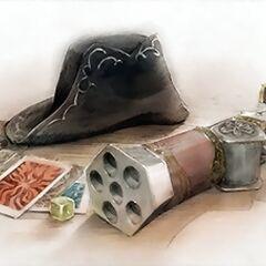 Artwork of Corsair equipment.