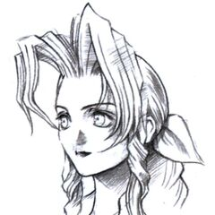 Aeris portrait sketch.