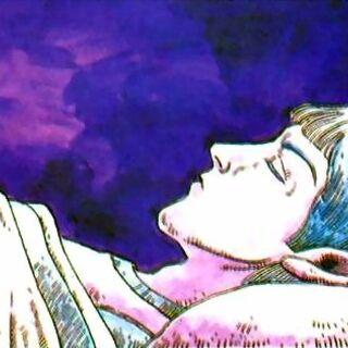 Artwork of the sleeping prince from <i>Nintendo Power</i>.