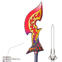 Concept artwork for the Flame Saber.
