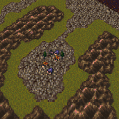 Zozo on the World of Ruin map (SNES).