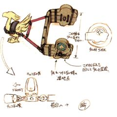 Chocobo cart concept art for Dali.