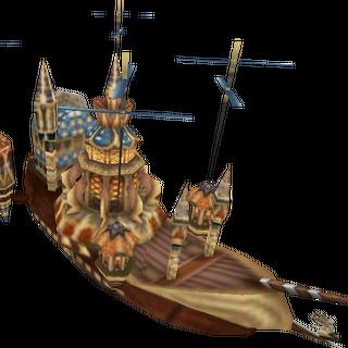 Tantalus's airship, <i>Prima Vista</i>.