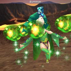 Rydia summoning in <i><a href=