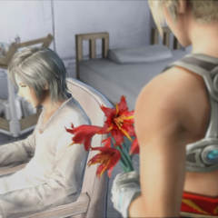 Vaan has a vision of Reks in the hospital.