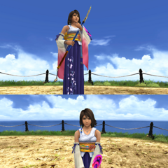 Yuna's victory pose.