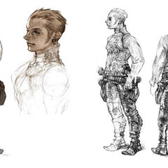 Concept art of Balthier.