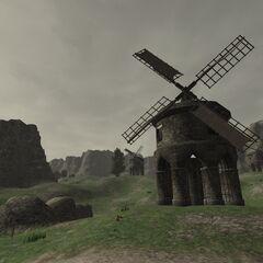 Windmills in the Konschtat Highlands.