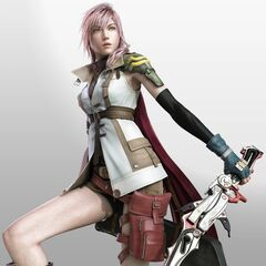 Lightning as she appears on the game's cover art.