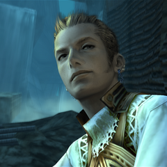Balthier in Garamsythe Waterway.