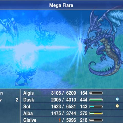 Bahamut's Mega Flare.