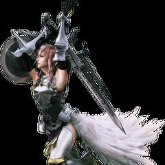 Alternate render of Lightning in <i>Final Fantasy XIII-2</i>.