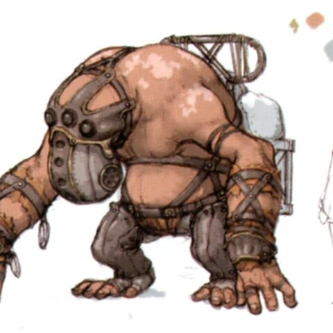 Concept art of the bugbear.