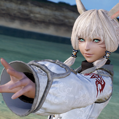 A presentation screenshot of Y'shtola.