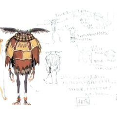 Early concept art of a Yagudo.