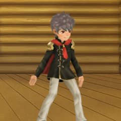 An avatar dressed in a male Akademeia Uniform from the Square-Enix Members Virtual World.