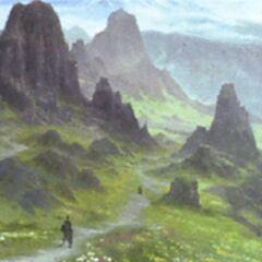 Concept art of Coerthas, pre-<i>Realm Reborn</i> (i.e. pre-snowfield).