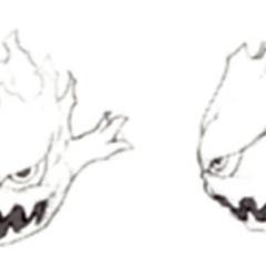 Akira Oguro sketch of the Bomb for <i>Final Fantasy IV</i> (DS).