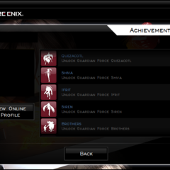 The Achievements menu.