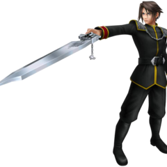 Squall's first alt outfit in <i>Dissidia</i>, based on his SeeD uniform.