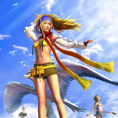 Rikku promotional poster.