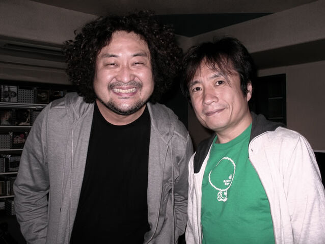 File:Yuji Toriyama with Taro Hakase 2010.jpg