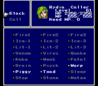 FFIV SNES Magic Menu