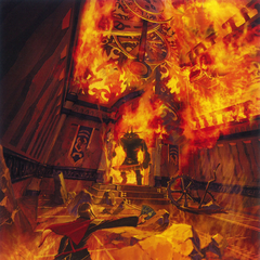 Concept art of Ace facing a Rursan Reaver in Akademeia.