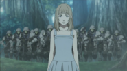 Luna with Niflheim troops Behind Her.