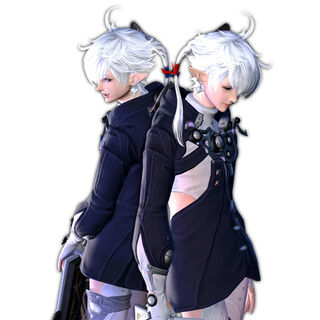 Alphinaud (left) and Alisaie.