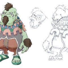Dwarf male in <i>Final Fantasy IX</i>.