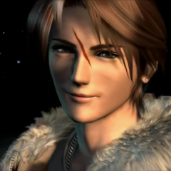 Squall smiling in the ending.