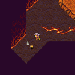 Kokkol's Forge on the World Map (SNES).
