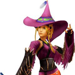 Rikku as a Black Mage.