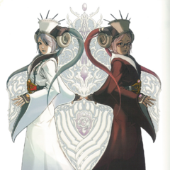 Concept art of Celestia and Yuzuki.