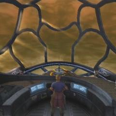 The <i>Shera</i> in <i>Dirge of Cerberus -Final Fantasy VII-</i>.