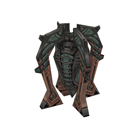 Base model for Bug disguised as a treasure, without the overlaying colors.