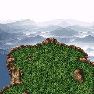 The summit of Mt. Zozo (SNES).