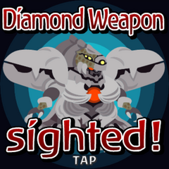 Diamond Weapon sighted inside a Gate Crystal.